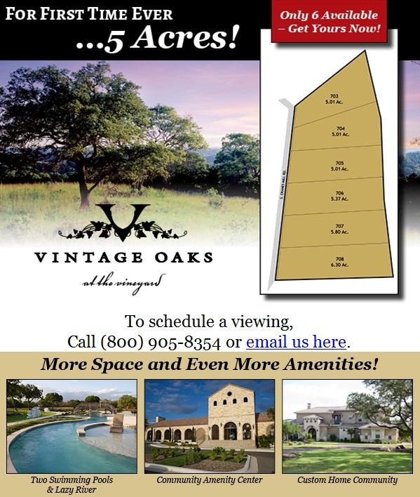 Vintage Oaks 5 Acres Texas Land for Sale