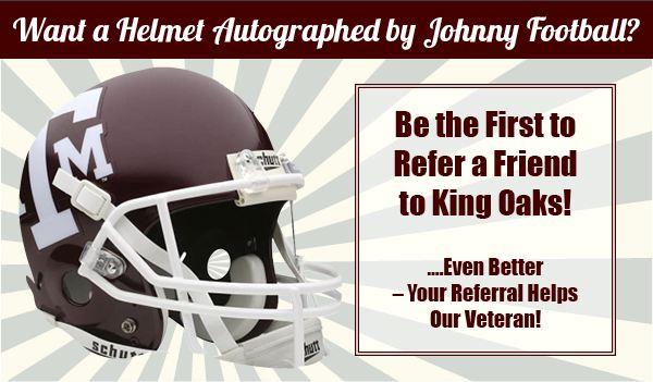 A&M Johnny Manziel football helmet referral reward