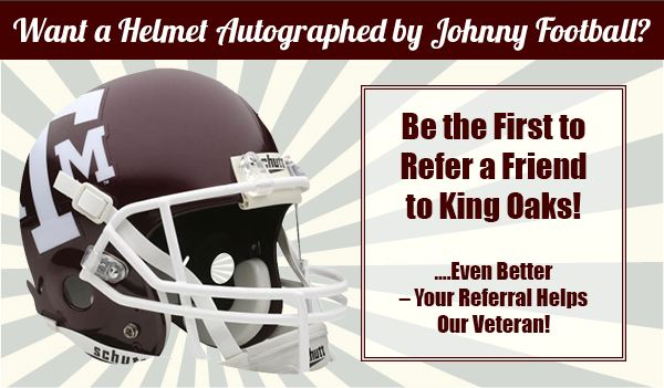 A&M Johnny Manziel football helmet referral reward