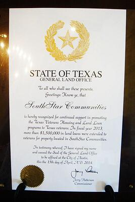 Texas VLB Award