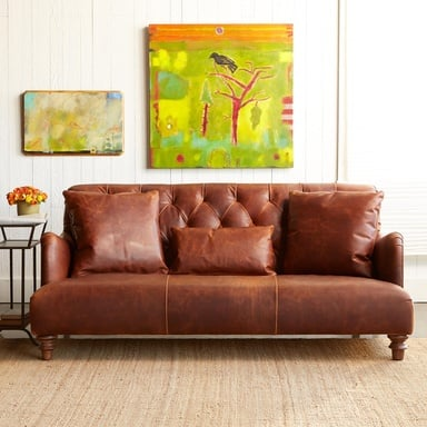 High Design Leather Couch