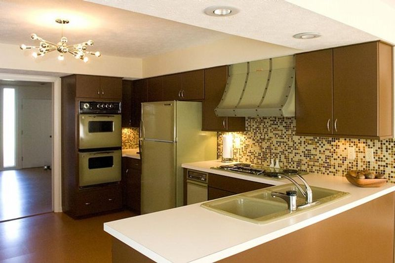 Avocado green, the color of the 1970s kitchen