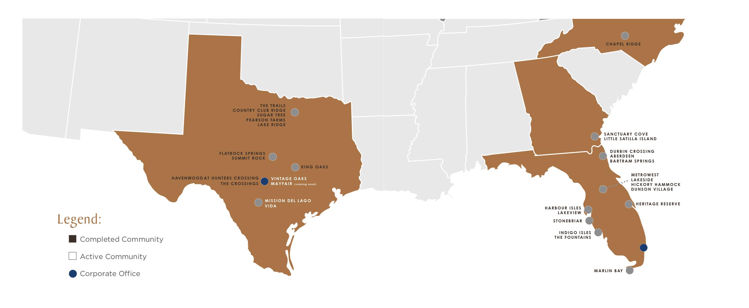 SouthStar Communities Map